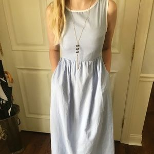 Order Plus Light Blue Sleeveless Dress
